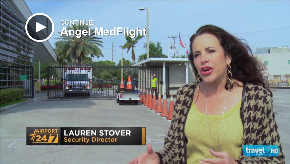 Travel Channel covers Angel MedFlight Air Ambulance Medical Flight Interview with Lauren Stover