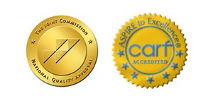 The Joint Commission and CARF Logos